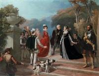 la rencontre de marie stuart et d'elisabeth ière d'angleterre by alphonse honein