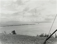 the columbia river and the pacific ocean, southeast from cape disappointment, washington by robert adams