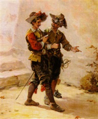 two soldiers by eugène appert
