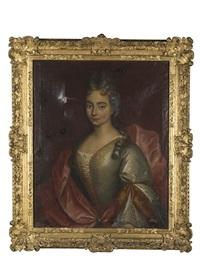 portait de monsieur pierre balme et de madame eléonore balme née marion. deux by hyacinthe rigaud