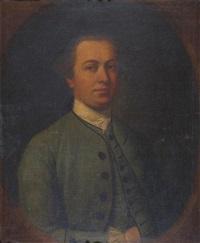 portrait of a gentleman wearing green by cosmo alexander