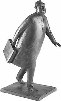 walking businessman by william hodd mcelcheran