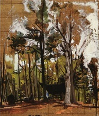 olsen's camp (study) by rackstraw downes