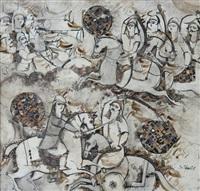 scène avec cavaliers by sadegh tabrizi