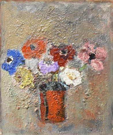flowers in a vase by gandy brodie