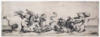 triumphzug von meerwesen (vier putti auf meereswesen reitend und selbige ziehend) by simon vouet