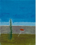 tree and poppy montecastelli by craigie aitchison