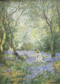 in a bluebell wood by james herbert snell