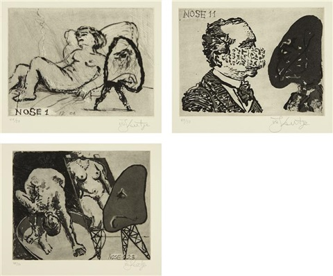 nose #1, #11 and #23 (3 works) by william kentridge