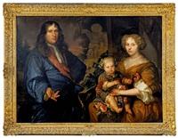 portrait de famille dans un paysage by abraham lambertsz jacobsz van den tempel