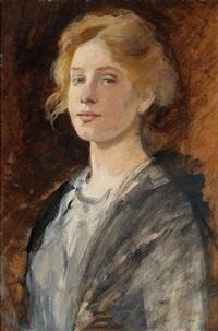portrait of a girl by cecil van haanen