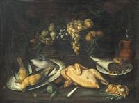 natura morta con frutta e cacciagione by bartolomeo arbotori