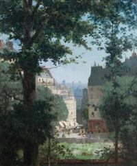 un coin du vieux paris et de paysage by alfred stevens