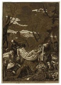 the entombment (after jacopo bassano) by john baptist jackson