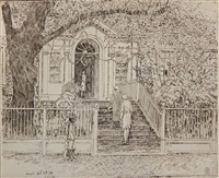 the chase house (cortissoz 309) by childe hassam