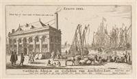 6 bll. der folge: verscheyde schepen en gesichten van amstelredam (6 works) by reinier nooms