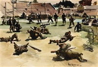 army in action, kezar stadium, san francisco by barse miller