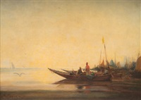 pêcheurs orientaux by paul bistaagne