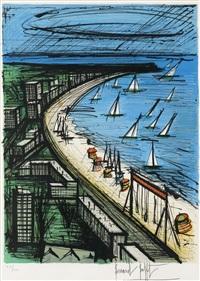 la plage de la baule by bernard buffet