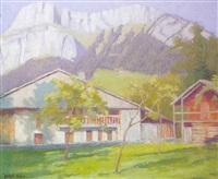 paisaje montañoso en suiza by gabriel dufaux