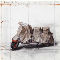 wrapped vespa (project) 1963-1964 by christo and jeanne-claude