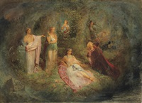 a dream of fair women by edward henry corbould