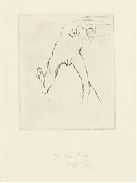 four prints from: suite oath hand (suite schwurhand) by joseph beuys