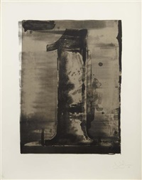 figure one, from black numeral series by jasper johns