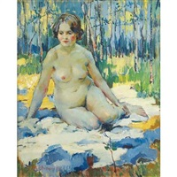 in the woods, nude in the forest by ruth a. (temple) anderson