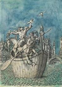 il traghetto dei poeti by domenico gnoli
