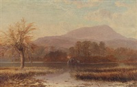 sunrise at the inlet of river brathay, lake windermere by charles pettitt