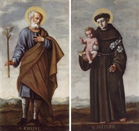 saint joseph (+ saint anthony of padua; pair) by valencia