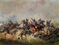 attacke der österreichischen trani-ulanen in italien by alexander ritter von bensa