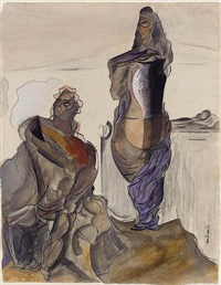 eleusis, morning by wyndham lewis