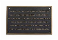 the living series: hands on socialization promotes... by jenny holzer