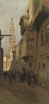 a street in cairo by william graham