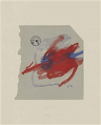 three prints from: suite oath hand (suite schwurhand) by joseph beuys
