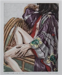 seated nude with kimono by philip pearlstein