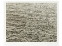 ocean with cross #1 by vija celmins