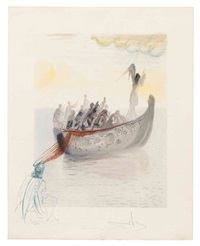 canto 2 (purgatory) (from the divine comedy) by salvador dalí