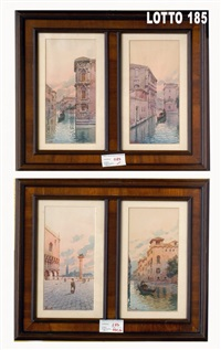 veduta di venezia (+ 3 others; 4 works) by a. verutti