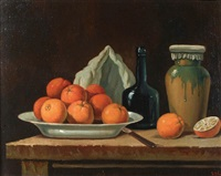 still life with oranges by ira monte