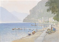 ufer in riva am gardasee by rudolf weber