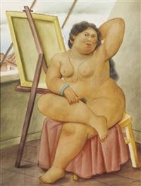 the model by fernando botero