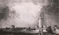 vue du phare du port jackson by jean-baptiste arnout