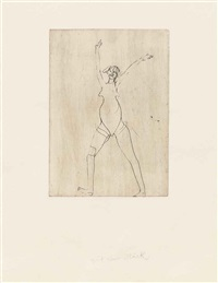 four prints from: suite circulation time (zirkulationszeit) by joseph beuys