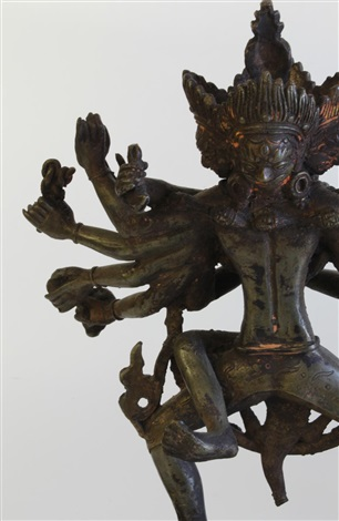19th c sino tibetan gilt bronze of ushnishavijaya
