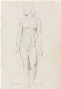 standing female nude by george tooker