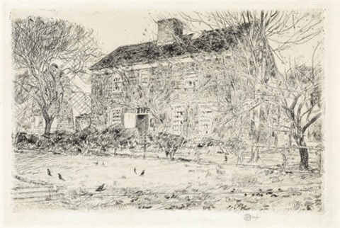 the home sweet home cottage no. 2, easthampton by childe hassam