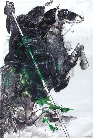 the horseman 7 from the harouboriental battles series by marwan sahmarani
